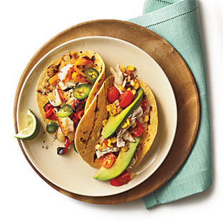 Sautéed Tilapia Tacos with Grilled Peppers and Onion