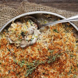 Creamy Mushroom, Leek and Gruyere Gratin