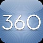 360 Blue icon