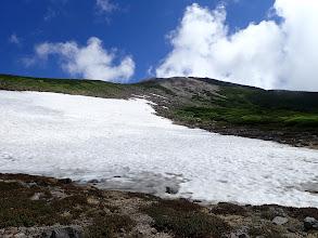 雪渓と御前峰