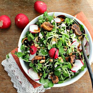Spring Pea Shoot and Radish Salad