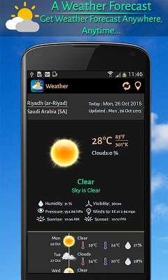 Weather Forecast for 5 days - screenshot