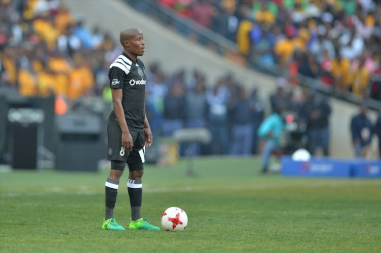 Thabo Matlaba during the Carling Black Label Champion Cup match between Orlando Pirates and Kaizer Chiefs at FNB Stadium on July 29, 2017 in Johannesburg.