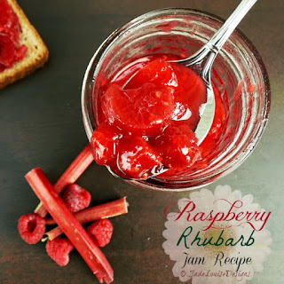 Raspberry Rhubarb Jam Recipe.