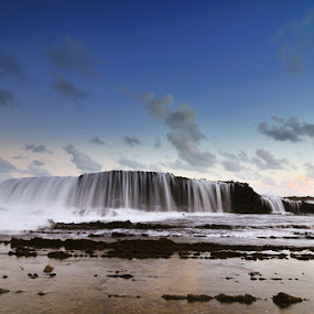 Water Fall in shore by Alfonso Reno - Landscapes Waterscapes