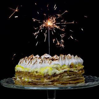 Lemon Meringue Crepe Cake.