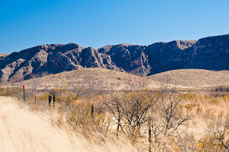 Photo: Stunning cliffs along Route 54, south of Guadalupe Mountains NP