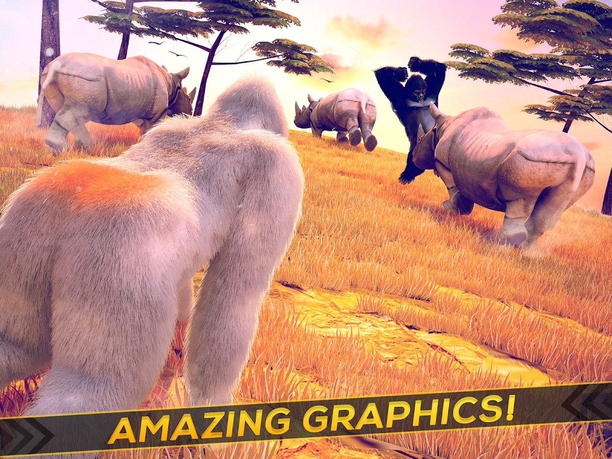 Wild Gorilla Monkey Run Game Apl Android Di Google Play