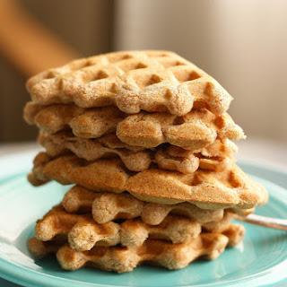Vegan Maple Vanilla Waffles..