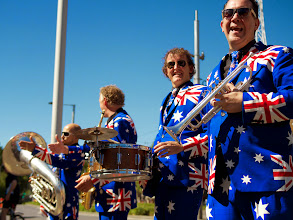 Photo: We were also in town for Australia Day - January 26th!