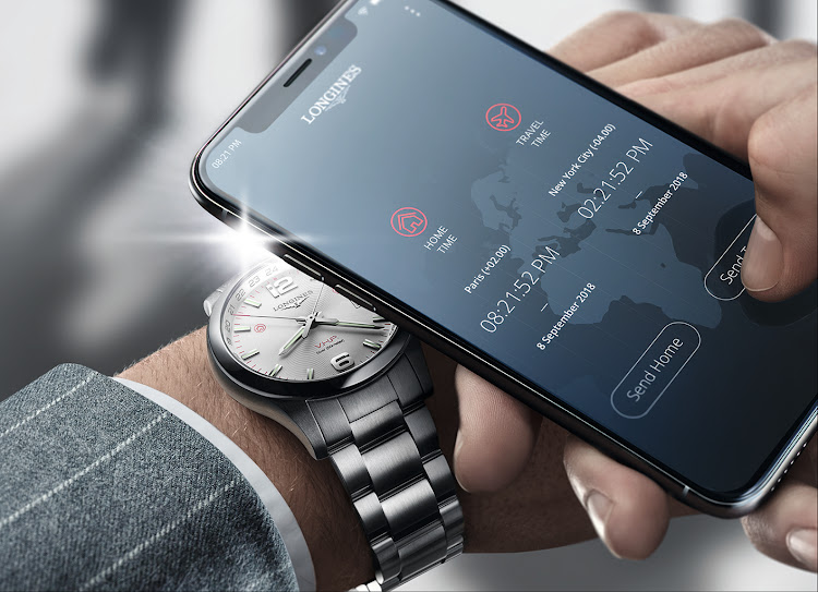 Longines Conquest VHP GMT Flash Setting and smartphone app.