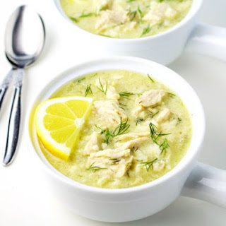 Greek Lemon Rice and Chicken Soup.