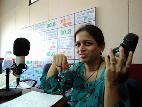 Photo: Itishree Date, a friend of Trinayani supporting us to record a few episodes of our Radio show MMKND in Marathi