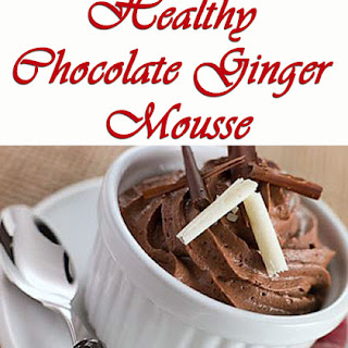 Healthy Chocolate Ginger Mousse.