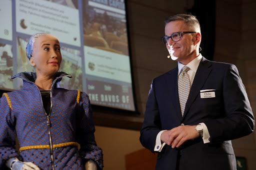 Sophia with Michael Chavez, Duke Corporate Education's CEO