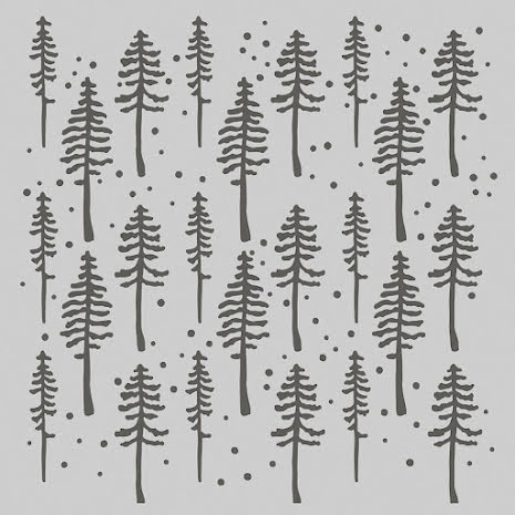 Simple Stories SV Rustic Christmas Stencil 6X6 - Rustic Trees