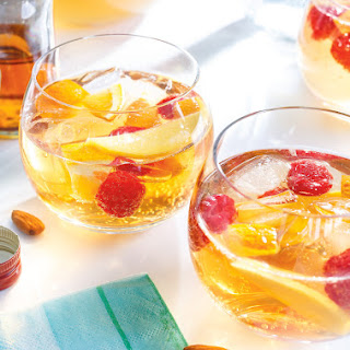 White Sangria with Mango and Honey.