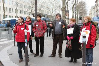 Photo: Une partie de la délégation