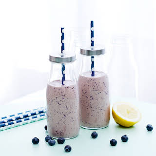 Low-carb Blueberry Smoothie.