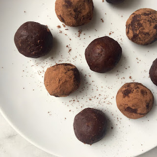 Chocolate Protein Balls.