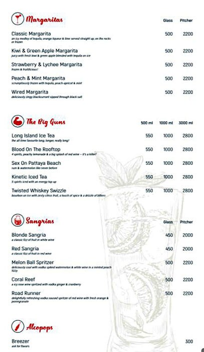 Harry's Bar + Cafe menu 10