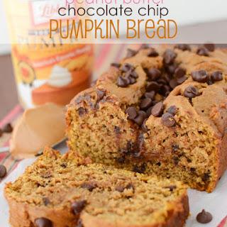 Peanut Butter Chocolate Chip Pumpkin Bread