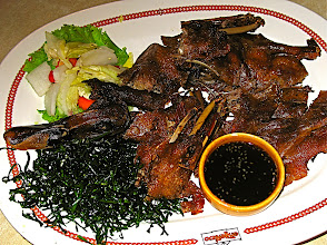 Photo: crispy fried duck with sweet plum and sesame sauce (bped ron)