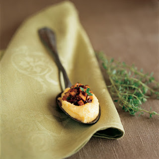 Polenta Bites with Caramelized Mushrooms