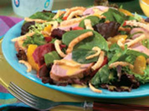Spinach Salad With Citrus Pork Loin Recipe