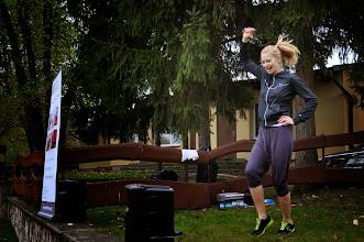 Photo: Prowadząca rozgrzewkę Kasia z Fanti Fitness