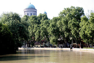 Photo: Day 68 - The Basilica  in  Esztergom, with the Flooded Canal in the Foreground
