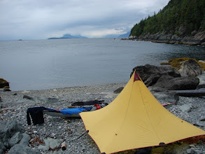 Photo: My campsite near Eldred Rock looking north up Lynn Canal.
