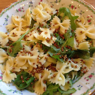 Farfalle with Greens and Buckwheat Crunch.