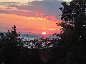 Photo: le lever du soleil au château de Falkenstein