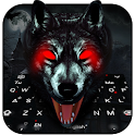 3D Black Ice Wolf Keyboard Theme icon