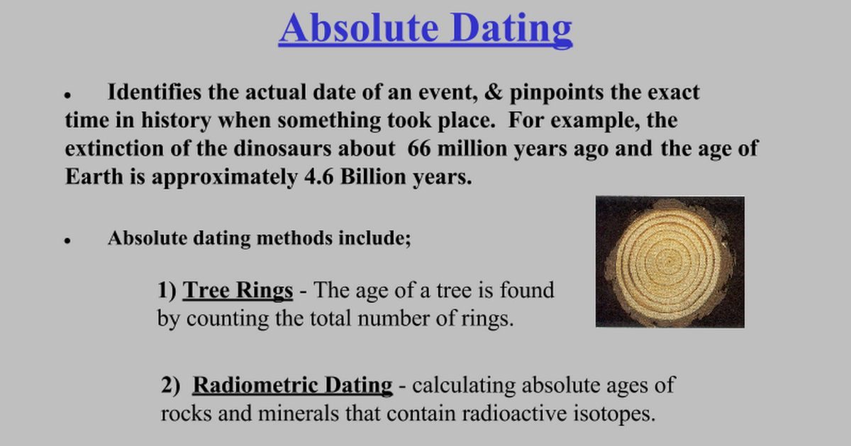 Science absolute dating mass extinction geologic time periods