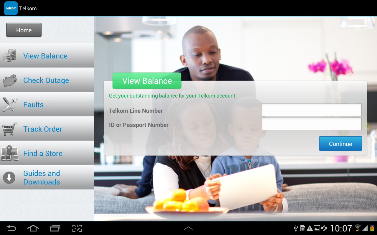 Telkom- screenshot