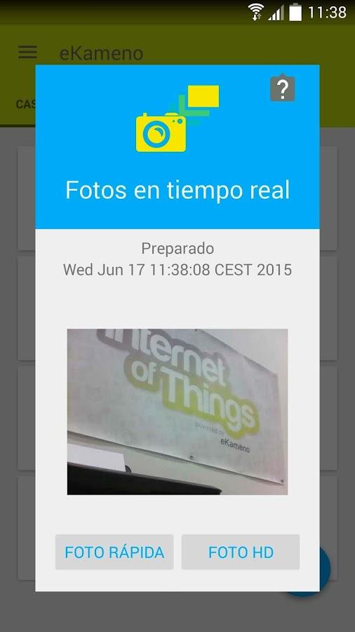Remote surveillance camera - screenshot