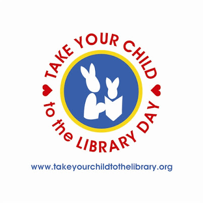 take your child to the library day logo