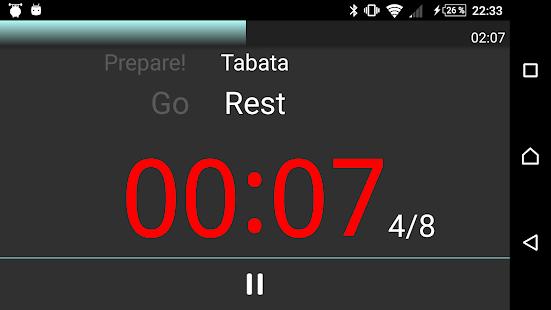 Interval Timer Round Timer Circuit Training Timer Tabata Timer