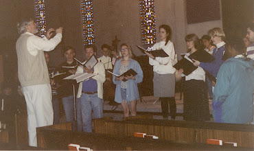 Photo: March 1994; Philipus Jacobus Rittler Missa Carolina à 24 from 1675 in its first modern performance.