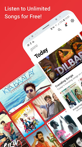 Gaana Music- Hindi English Telugu MP3 Songs Online 8.0.7 screenshots 1