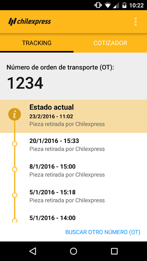 Chilexpress- screenshot