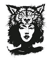 Wolf and Woman logo