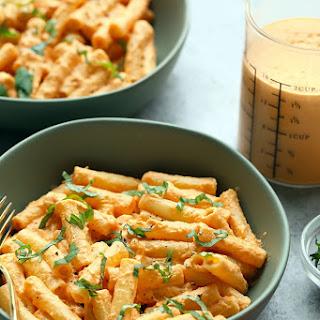 Vegan Creamy Tomato Basil Pasta.