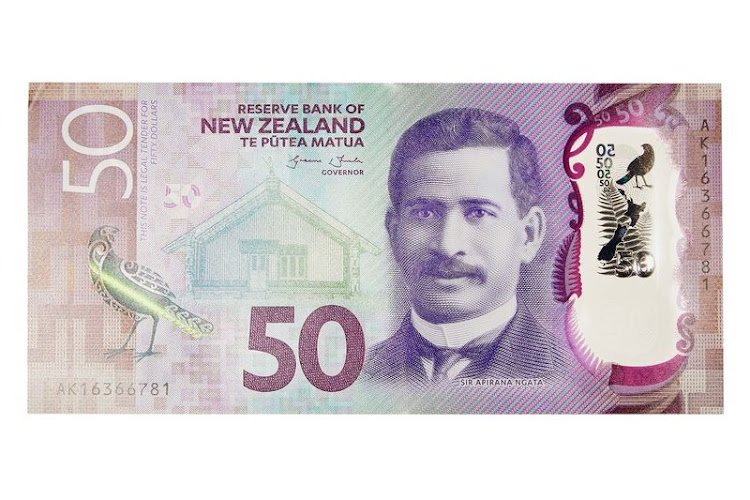 "50 dollar  The Kiwis' NZ$5 note was the ""clear winner"" in 2015, the IBNS said, with a map inset in a ""gorgeous polymer window"" and a ""color-changing yellow-eyed penguin."" The NZ$50, part of the same family, features Sir Āpirana Ngata, a prominent Maori politician."