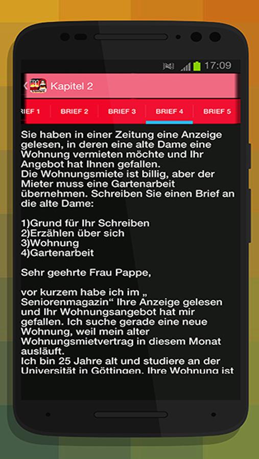 Briefe Für B1 Prüfung : Schreiben b zertifikat android apps on google play