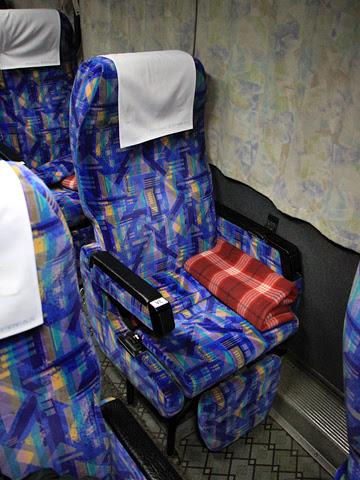 東北急行バス「ニュースター号」夜行便 ・834 シート