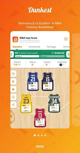 Télécharger Dunkest - Fantasy Basketball NBA et Euroligue apk mod screenshots 2