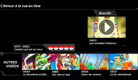 TV Pokémon – Vignette de la capture d'écran